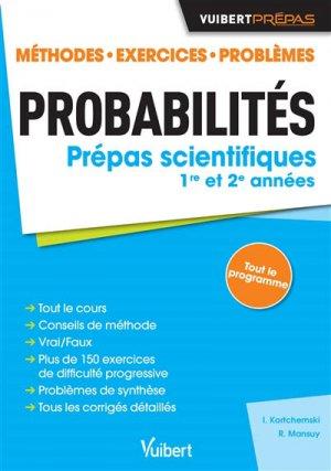 Probabilités - Classes préparatoires scientifiques. - vuibert - 9782311405279 -