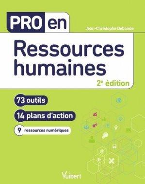 Pro en ressources humaines. 73 outils et 14 plans d'action - Vuibert - 9782311623932 -