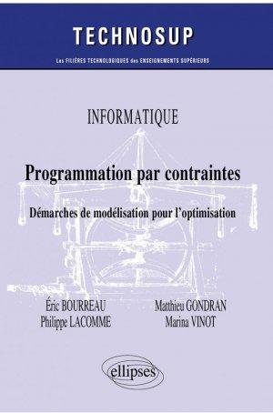 Programmation par contraintes - ellipses - 9782340035850 -