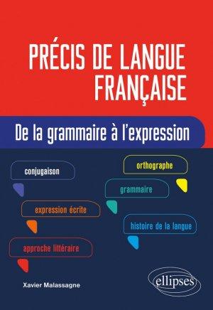 Précis de langue française - Ellipses - 9782340040441 -