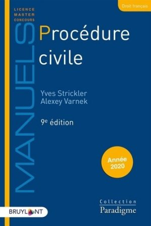 Procédure civile. 9e édition - Bruylant - 9782390132370 -