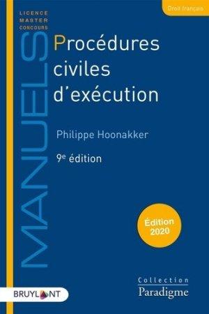 Procédures civiles d'exécution - bruylant - 9782390132721 -
