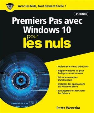 Premiers pas avec Windows 10 pour les Nuls - first - 9782412043493 -