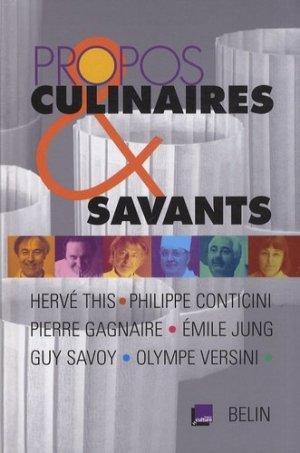 Propos culinaires et savants - Belin - 9782701146140 -