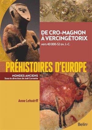 Préhistoires d'Europe - belin - 9782701159836 -