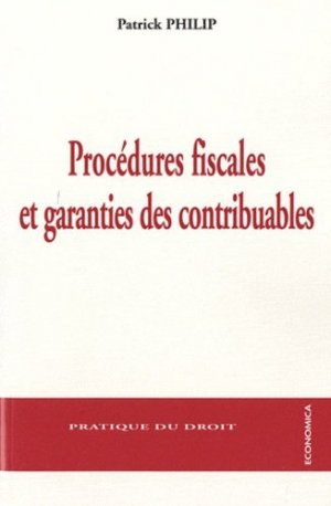 Procédures fiscales et garanties des contribuables - Economica - 9782717859980 -