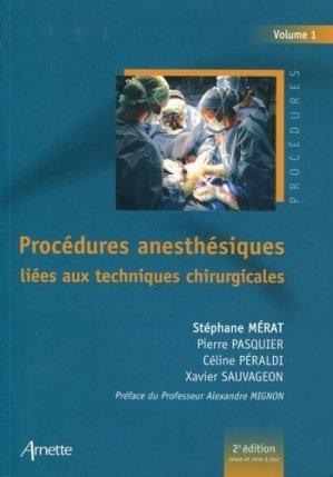 Procédures anesthésiques liées aux techniques chirurgicales - arnette - 9782718413952