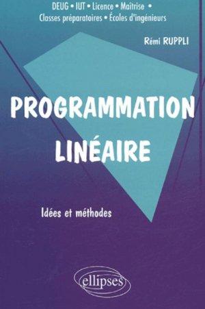 Programmation linéaire Idées et méthodes - ellipses - 9782729818302 -