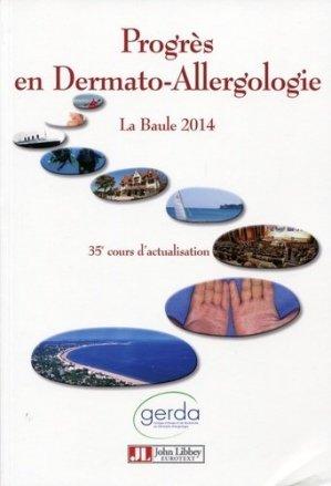 Progrès en dermato-allergologie - john libbey eurotext - 9782742013807 -
