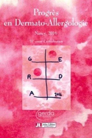 Progrès en Dermato-Allergologie - GERDA 2016 - john libbey eurotext - 9782742014897 -