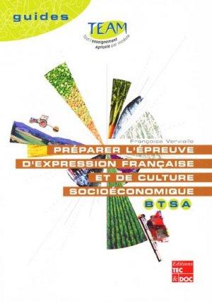 Préparer l'épreuve d'expression française et de culture socioéconomique BTSA - lavoisier / tec et doc - 9782743004705