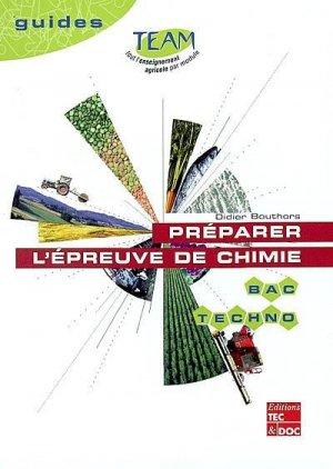 Préparer l'épreuve de chimie Bac techno - lavoisier / tec et doc - 9782743005566 -