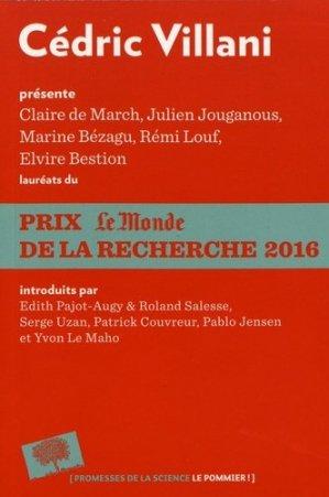 Prix Le Monde de la recherche 2016 - le pommier - 9782746516274 -