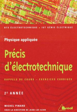 Précis d'électrotechnique 2ème année - breal - 9782749503165 -