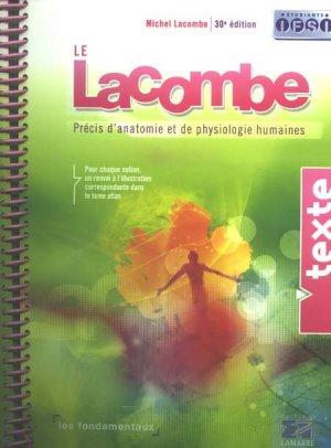 Précis d'anatomie et de physiologie humaines 2 volumes - lamarre - 9782757302736 -