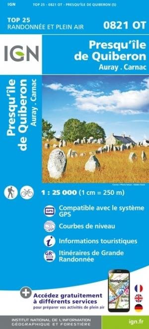 Presqu'île de Quiberon - Institut Géographique National - 9782758551454 -