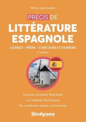 Précis de littérature espagnole - studyrama - 9782759040070 -