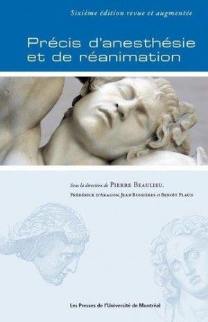 Précis d'anesthésie et de réanimation - presses de l'universite de montréal - 9782760641259 -
