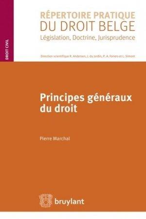 Principes généraux du droit - bruylant - 9782802743422 -