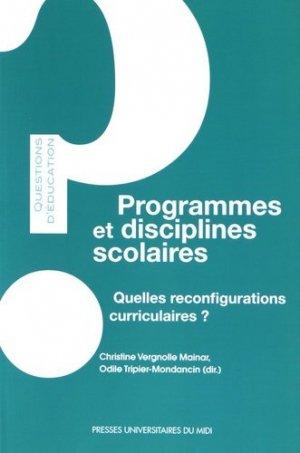 Programmes et disciplines scolaires - presses universitaires du mirail  - 9782810704798 -