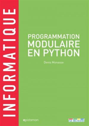 Programmation modulaire en Python - rue des ecoles - 9782820807663