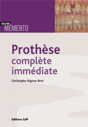 Prothèse complète immédiate - cdp - 9782843614262 -