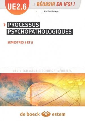 Processus psychopathologiques UE 2.6 - estem - 9782843716164 -