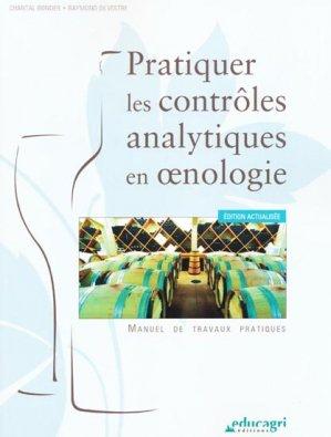 Pratiquer les contrôles analytiques en oenologie - educagri - 9782844448996 -