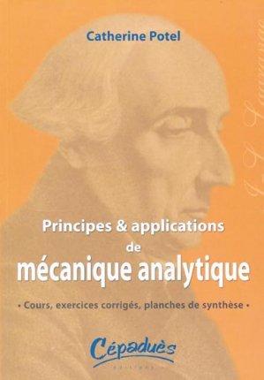 Principes et Applications de Mécanique Analytique - cepadues - 9782854287424 -
