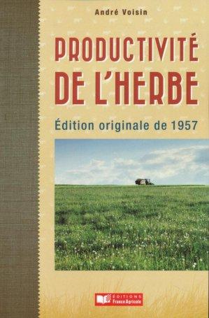 Productivité de l'herbe - france agricole - 9782855570693 -