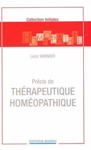 Précis de thérapeutique homéopathique - boiron - 9782857420668 -