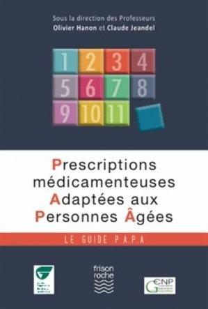 Prescriptions médicamenteuses adaptées aux personnes agées - frison roche - 9782876715820 -