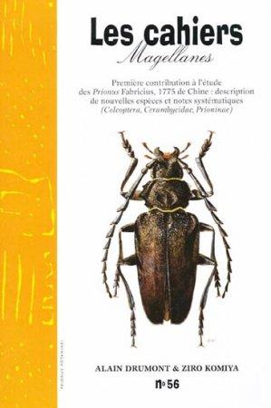 Premiere Contribution a l'Etude des Prionus Fabricius de Chine: Description de Nouvelles Especes et Notes  Systematiques - magellanes - 9782911545856 -
