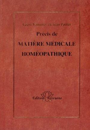 Précis de Matière Médicale homéopathique - narayana - 9783955820633 -