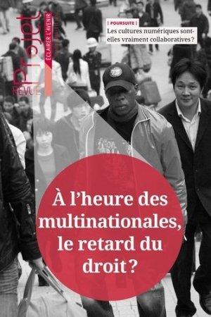 Projet N° 353, été 2016 : A l'heure des multinationales, le retard du droit ? - Société d'Editions de Revues - 9791095606031 -