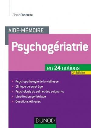 Psychogériatrie - dunod - 9782100724994 -