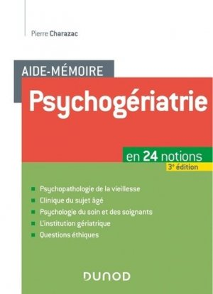 Psychogériatrie - dunod - 9782100788439 -