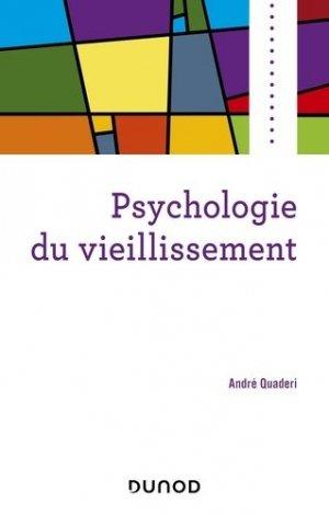 Psychologie du vieillissement - dunod - 9782100791583 -