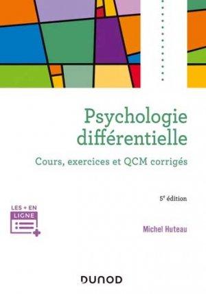 Psychologie différentielle - Dunod - 9782100812950 -