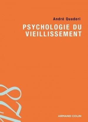 Psychologie du vieillissement - armand colin - 9782200276003 -