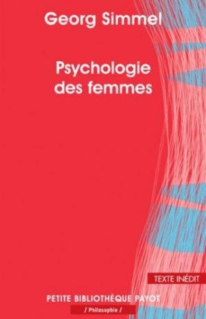 Psychologie des femmes - payot - 9782228909983 -