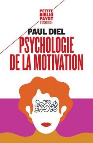 Psychologie de la motivation - payot - 9782228920308 -