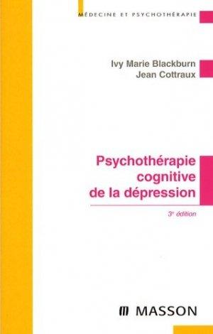 Psychothérapies cognitives de la dépression - elsevier / masson - 9782294704116 -