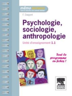 Psychologie, sociologie, anthropologie - elsevier / masson - 9782294716478 -