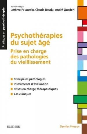Psychothérapies du sujet âgé - elsevier / masson - 9782294750489 -