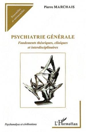 Psychiatrie générale - l'harmattan - 9782296568709 -