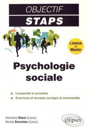 Psychologie sociale - ellipses - 9782340015302