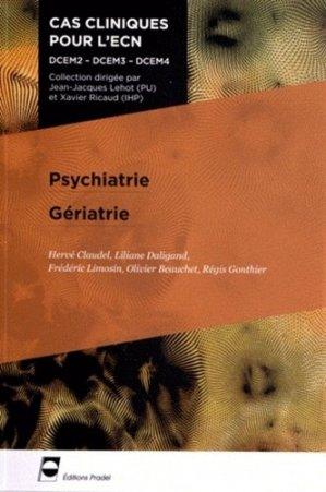 Psychiatrie - Gériatrie - pradel - 9782361100346 -