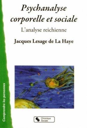 Psychanalyse corporelle et sociale - chronique sociale - 9782367170206 -