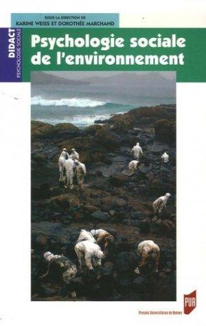Psychologie sociale de l'environnement - presses universitaires de rennes - 9782753503120 -